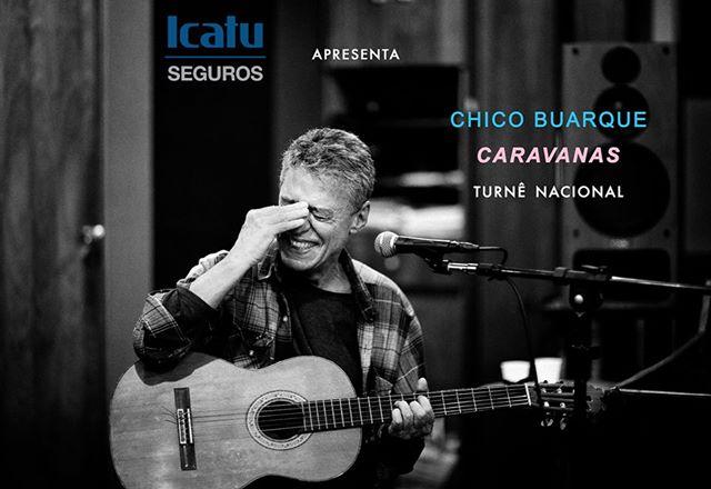 Cantor e compositor Chico Buarque abre turnê nacional de seu show Caravanas em Belo Horizonte