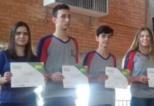 esquerda para a direita): Dávila Meireles, Luís Guilherme, José Gabriel e Giovana Grossi. Foto - Divulgação