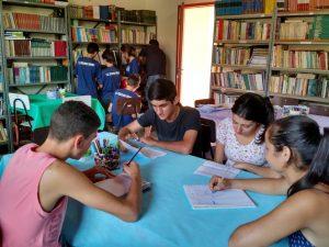 Alunos da escola Terezinha Pereira se preparando para uma das etapas da Obmep. Foto - Divulgação