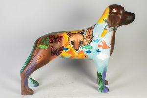 Escultura criada pela atriz Nathalia Dill