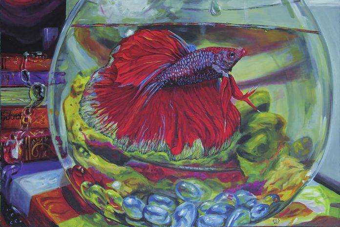 Grafite do artista Gud Assis, que está em exposição no Museu Inimá de Paula