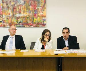O vice-presidente da Fiemg, Lincoln Gonçalves (esq.), na divulgação da pesquisa Indicadores Industriais de Minas