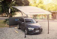 Protótipo do estacionamento solar desenvolvido pela empresa mineira CSEM. Fotos - Divulgação