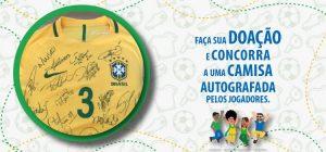 Hospital da Baleia vai rifar uma camisa autografada pelos jogadores da seleção brasileira de futebol