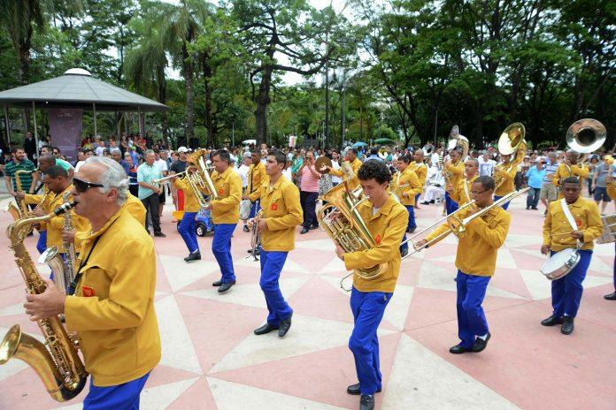 Registro do 1º Encontro de Bandas de Música realizado em Belo Horizonte. Fotos - Omar Freire - Governo de Minas Gerais