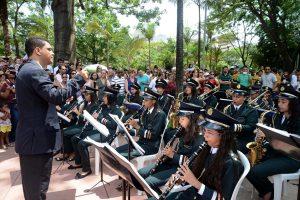 Do primeiro encontro de bandas de música participaram conjuntos de todas as regiões de Minas.
