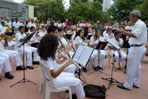 O 1º Encontro de Bandas de Música de Minas foi realizado na Praça da Assembleia, em Belo Horizonte.