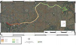 Imagem do trecho do rio Arrudas que vai ganhar um corredor agroecológico