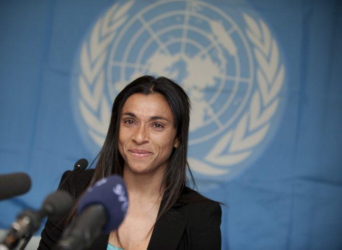 Marta foi nomeada Embaixadora da Boa Vontade | Foto: Pnud