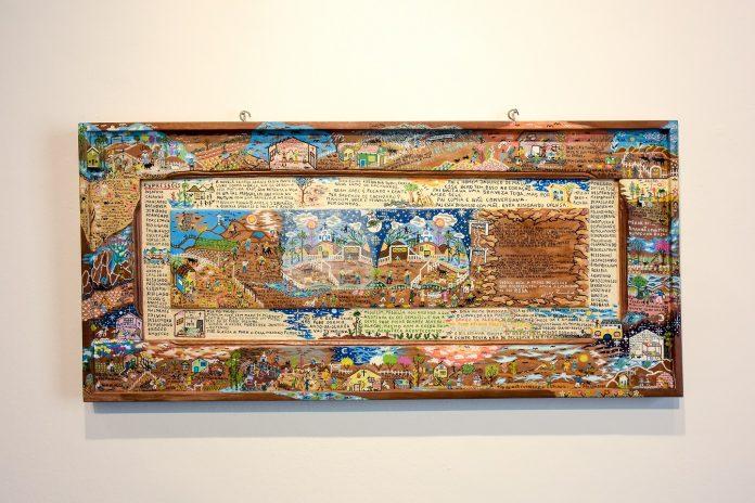 Obras do artista Zezinho Angrisano que integram a exposição