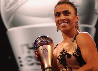 Marta foi eleita a melhor jogadora do futebol feminino