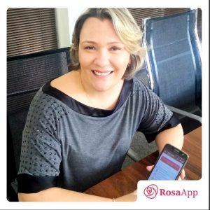 Aplicativo Rosa passou a fazer parte da vida de Maria Melo