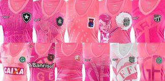 Clubes lançam camisas rosas em outubro
