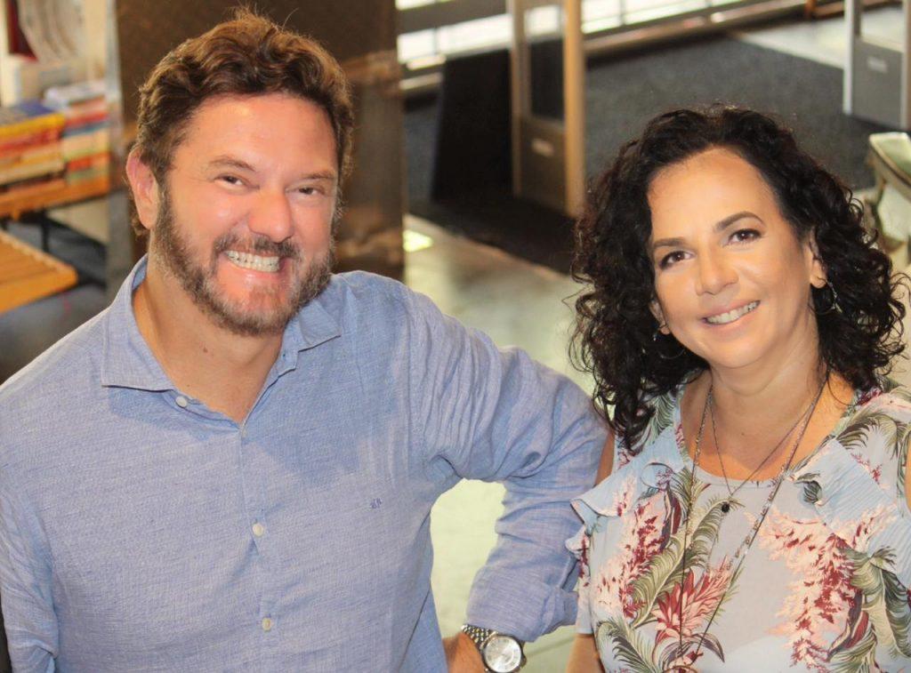 Vanderson Rocha e Nalu Saad, autores do Esquadrão dos anjos. Foto - Divulgação