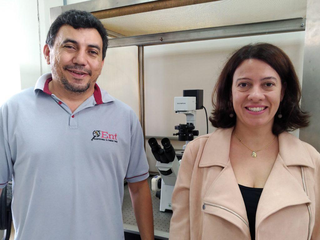 Os professores Eugênio Oliveira e Maria Augusta Lima, da Universidade Federal de Viçosa
