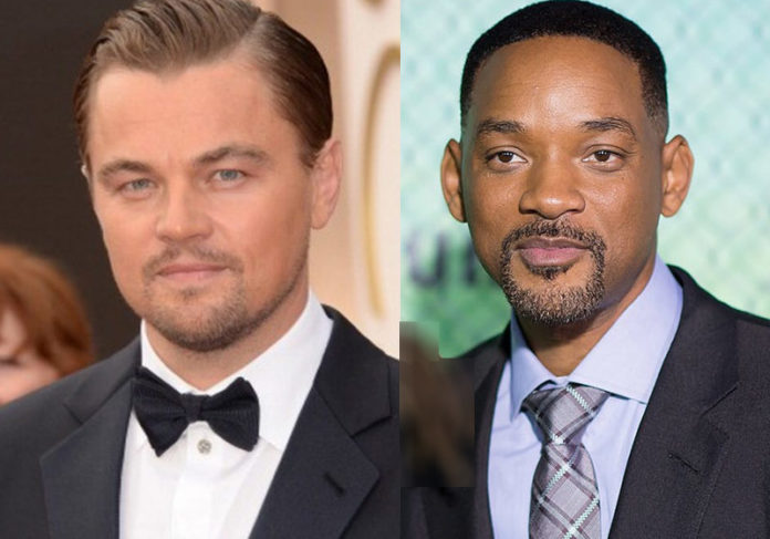 Os astros Leonardo DiCaprio e Will Smith. se juntaram e lançaram uma linha de tênis; dinheiro arrecadado vai ajudar preservar floresta Amazônica. Foto - Reprodução