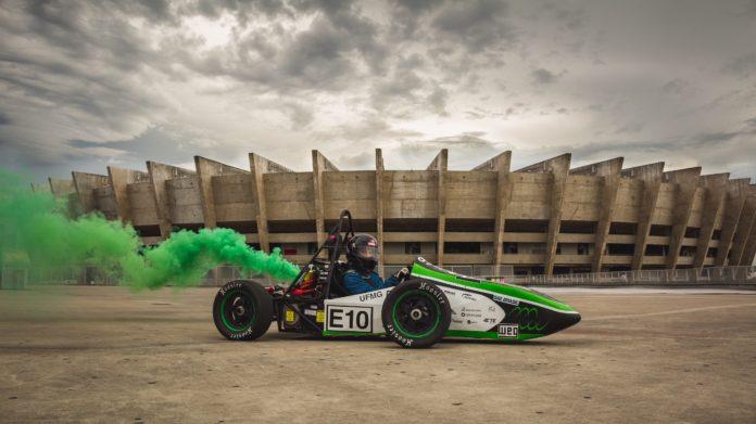 protótipo do carro NK218, modelo de veículo elétrico criado pela equipe Fórmula Tesla, de alunos de engenharia da UFMG. Fotos - Fórmula Tesla - Divulgação