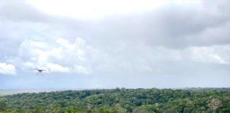 Drone antes usado para grandes produções de Hollywood hoje servem para realizar pesquisas na floresta Amazônica. Fotos - SWNS