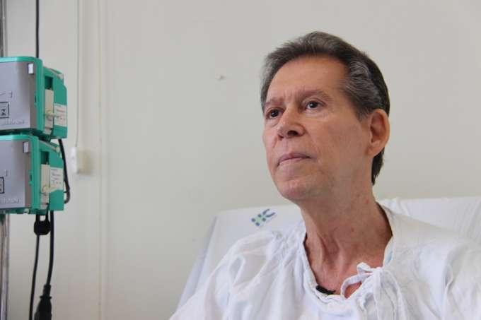 o mineiro Vamberto Luiz de Castro recebeu um tratamento personalizado contra um tipo agressivo de câncer e 20 dias depois, está curado. Foto - Hugo Caldato/Hemocentro RP/Divulgação)