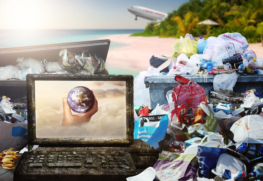 China produz 200 milhões de lixo doméstico todo ano, boa parte dele de plástico. Foto - Pixabay