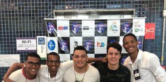 Estudantes baianos da equipe Cafeína Team venceram a hackathon da Nasa com projeto para retirar microplásticos dos aceanos. Foto - Equipe Cafeína Team-Divulgação