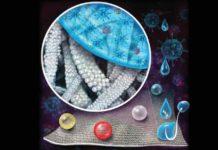 Novo revestimento têxtil que está sendo desenvolvido pela Universidade de Pittsburgh, que pode repelir vírus. Foto - Universidade de Pittsburgh,