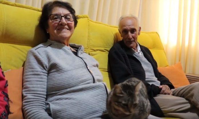 Sr. Alcindo, 83 anos, e dona Ondina, 80 anos, se recuperam da Covid-19 em Pouso Alegre. Foto-Hospital Samuel Libânio-Divulgação